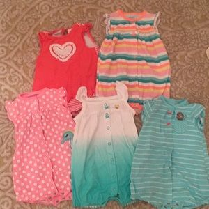Carter's bundle of rompers 18 months